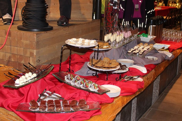 Holiday Office Party Dessert Display