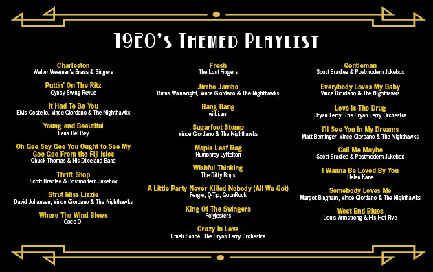 1920's Themed Playlist