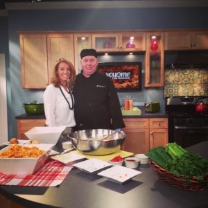 Melissa Forman and Larry Walter create Tasty Catering's famous Sweet Potato Salad on You & Me in The Morning.