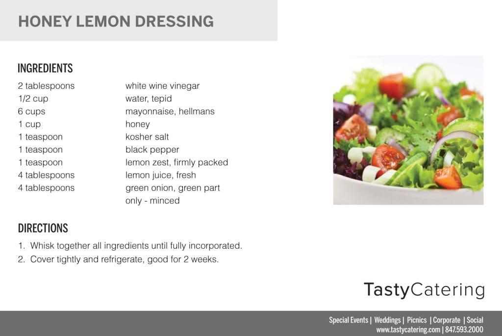 Honey Lemon Dressing Recipe Card
