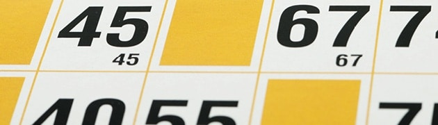 black and yellow bingo