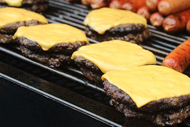 Cheese burgers on the Grill at Picnic Event Chicagoland
