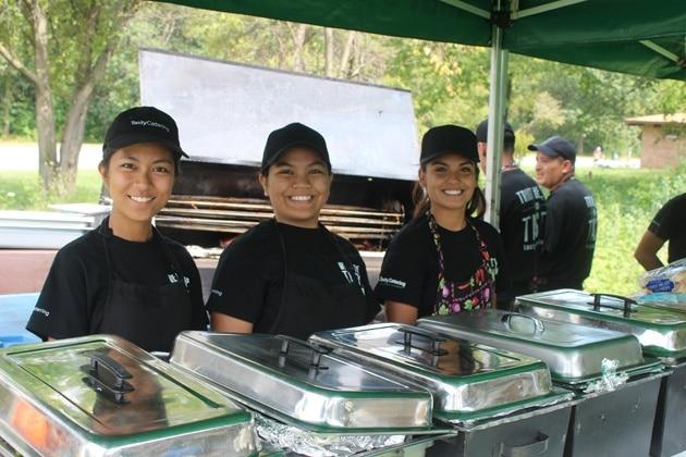 Picnic Staff On The Food Line