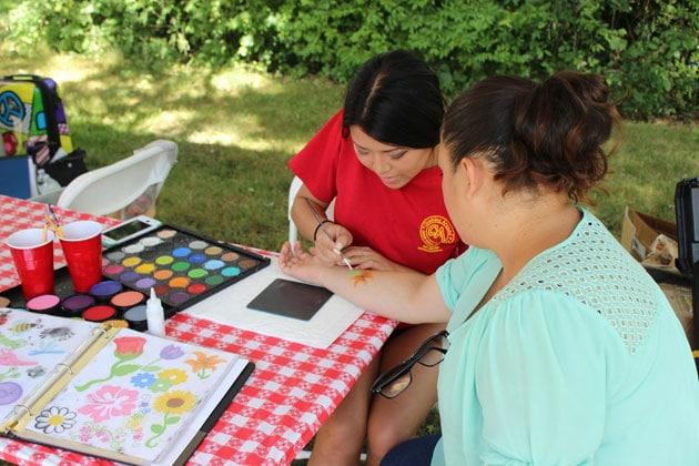 Face Painter at Company Picnic