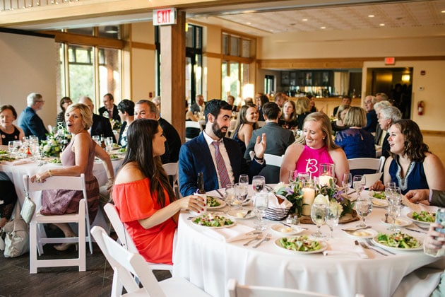 Wedding Shower Guests Enjoy Food at Oak Brook Bath and Tennis Club