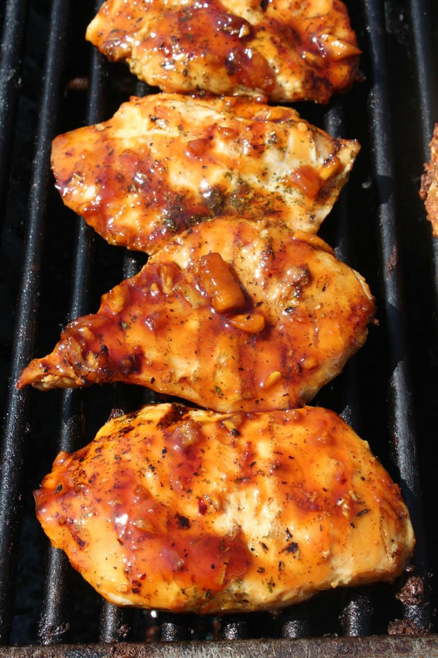 grilled chicken breast with pineapple teriyaki glaze