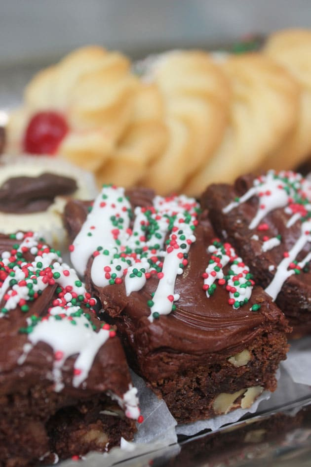 Peppermint Brownies and Holiday Butter Cookies