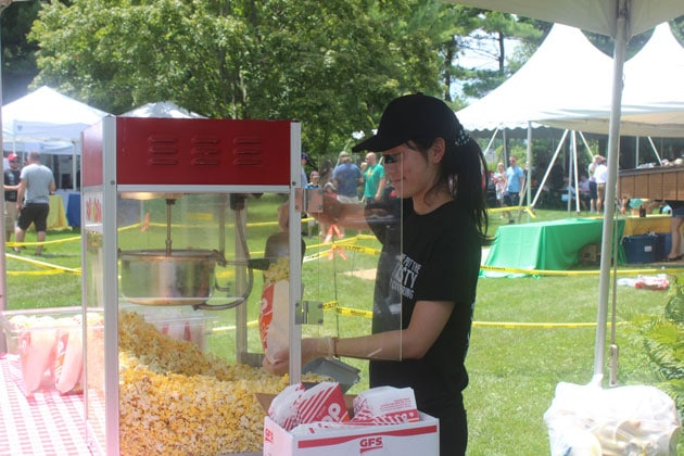 Popcorn and Attendent at Themed Picnic Chicagoland Area