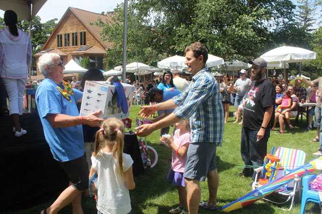 Raffle Prizes at Outdoor Picnic Event