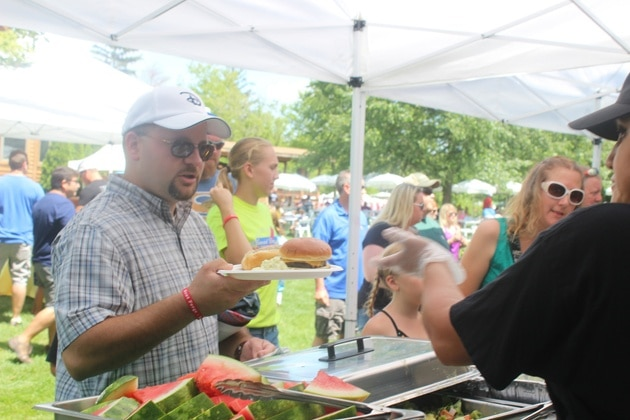 Delicious Picnic Food and Burgers at Themed Event