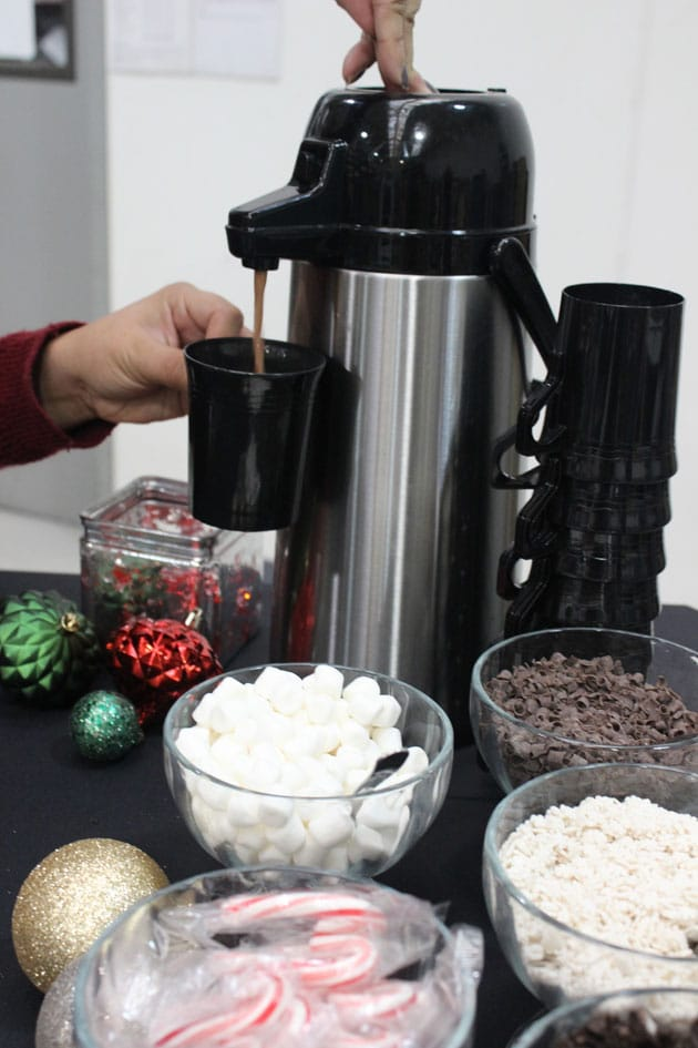 make-your-own hot chocolate bar