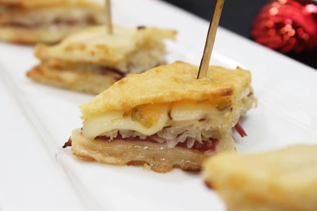 Reuben flatini from Tasty Catering's NEW holiday menu.