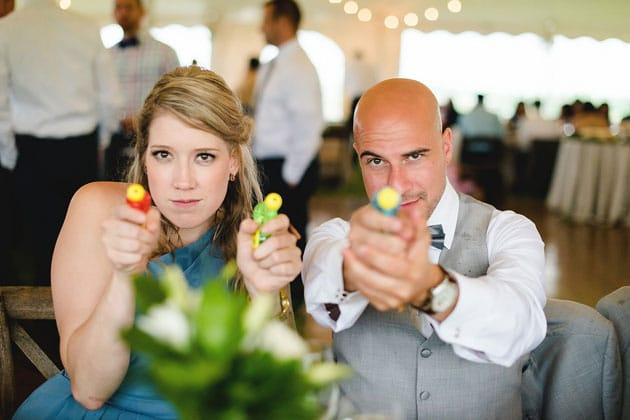 Water Guns at Creative Wedding