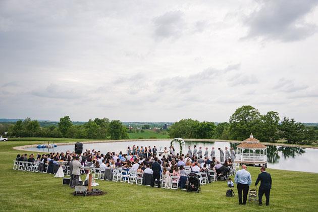 Wedding Ceremony at LeFevre Inn and Resort