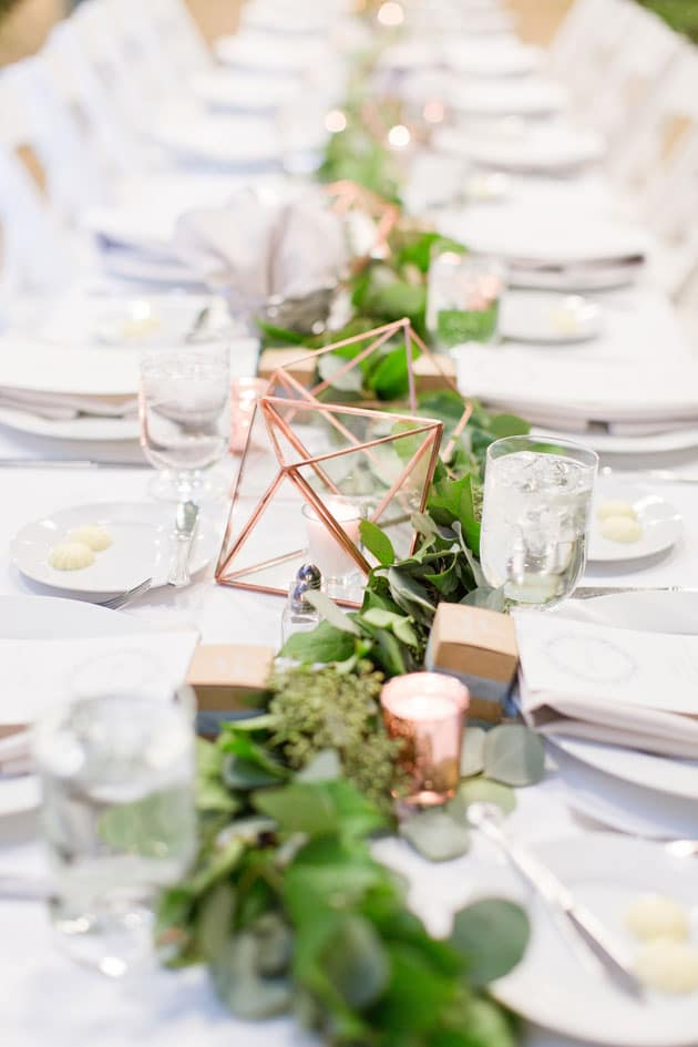 Beautiful Greenery Floral Wedding Centerpiece