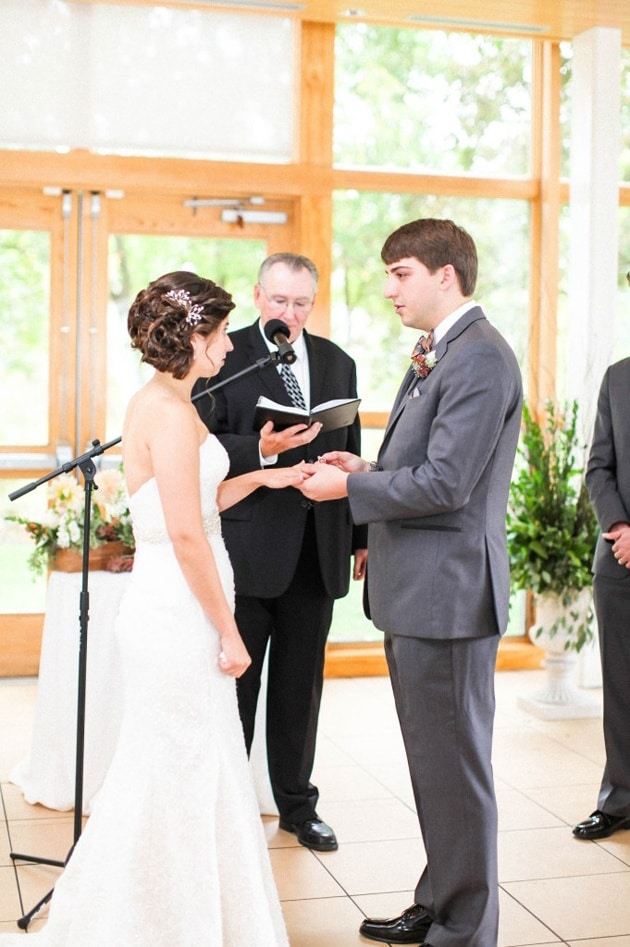 Bride and Groom Say Their Vows at Danada House