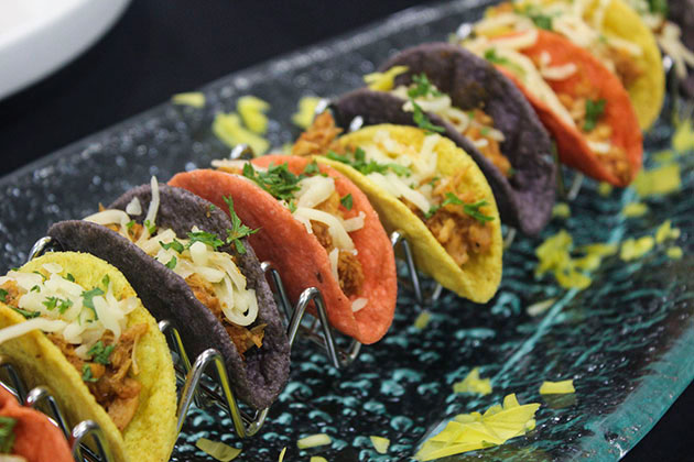 Full-Service Menu Mini Tinga Tacos