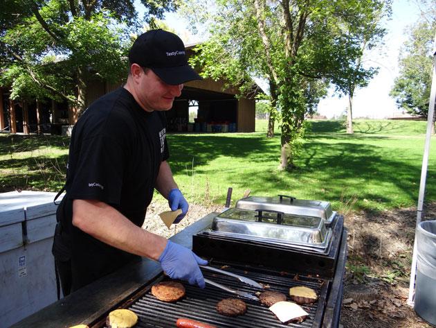 Kornel Grygo Grilling at Picnic