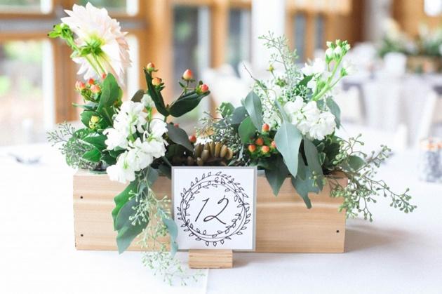 Flower Box Wedding Centerpiece