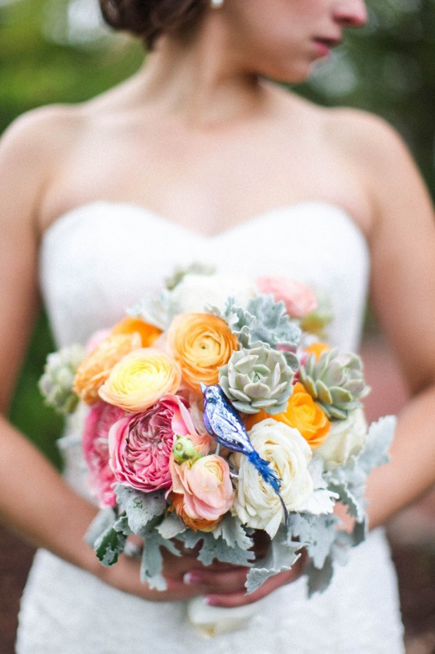 Bridal Bouquet with Bird