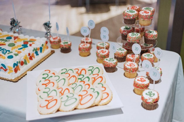 Custom Cupcakes at Anniversary Party