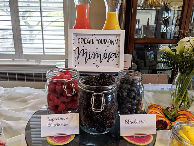 Mimosa Bar for Mother's Day