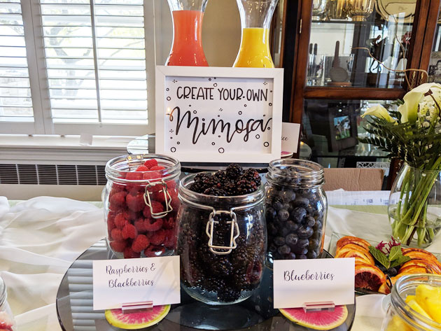 Mimosa Bar at Wedding or Baby Shower