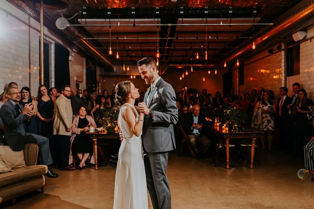 First Dance at Firehouse Chicago Wedding