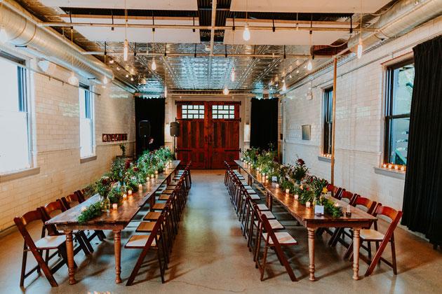 Wedding Reception Indoor Room Set Up for Guests