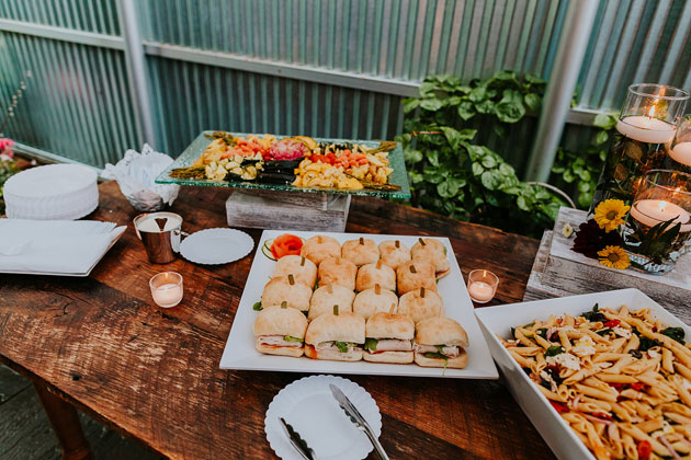 Stationary Hors D'oeuvres at Wedding at Firehouse Chicago