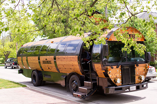 Barrel Bus at Wedding
