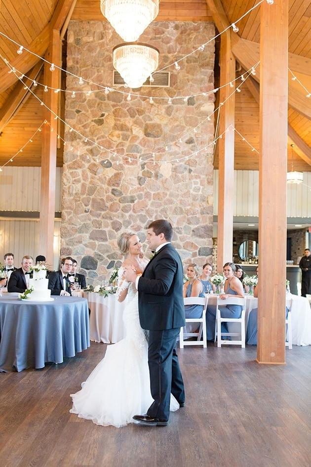 Bride and Groom First Dance at Oak Brook Bath and Tennis Club Wedding