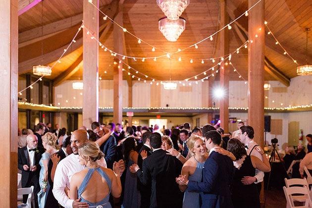 Dance Floor at Oak Brook Bath and Tennis Club Wedding