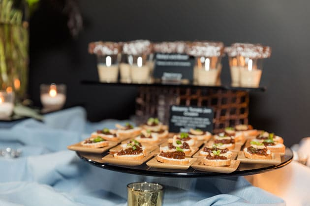 Tasty Catering Buffet at Wedding Show Appetizers