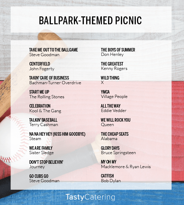 Baseball Themed Picnic Playlist