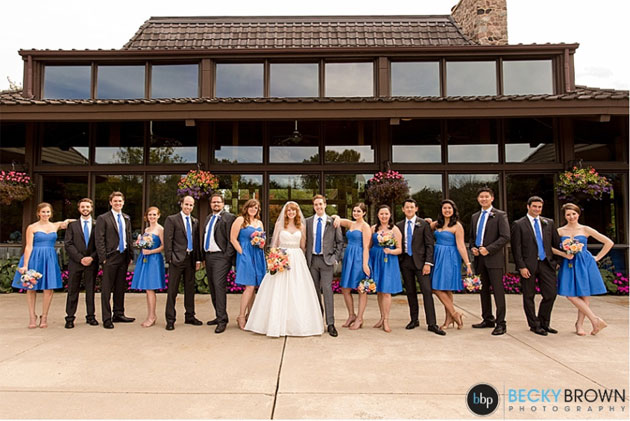 Wedding Party Becky Brown Photography at Oak Brook Bath and Tennis