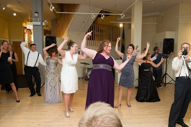 Dancing at the wedding