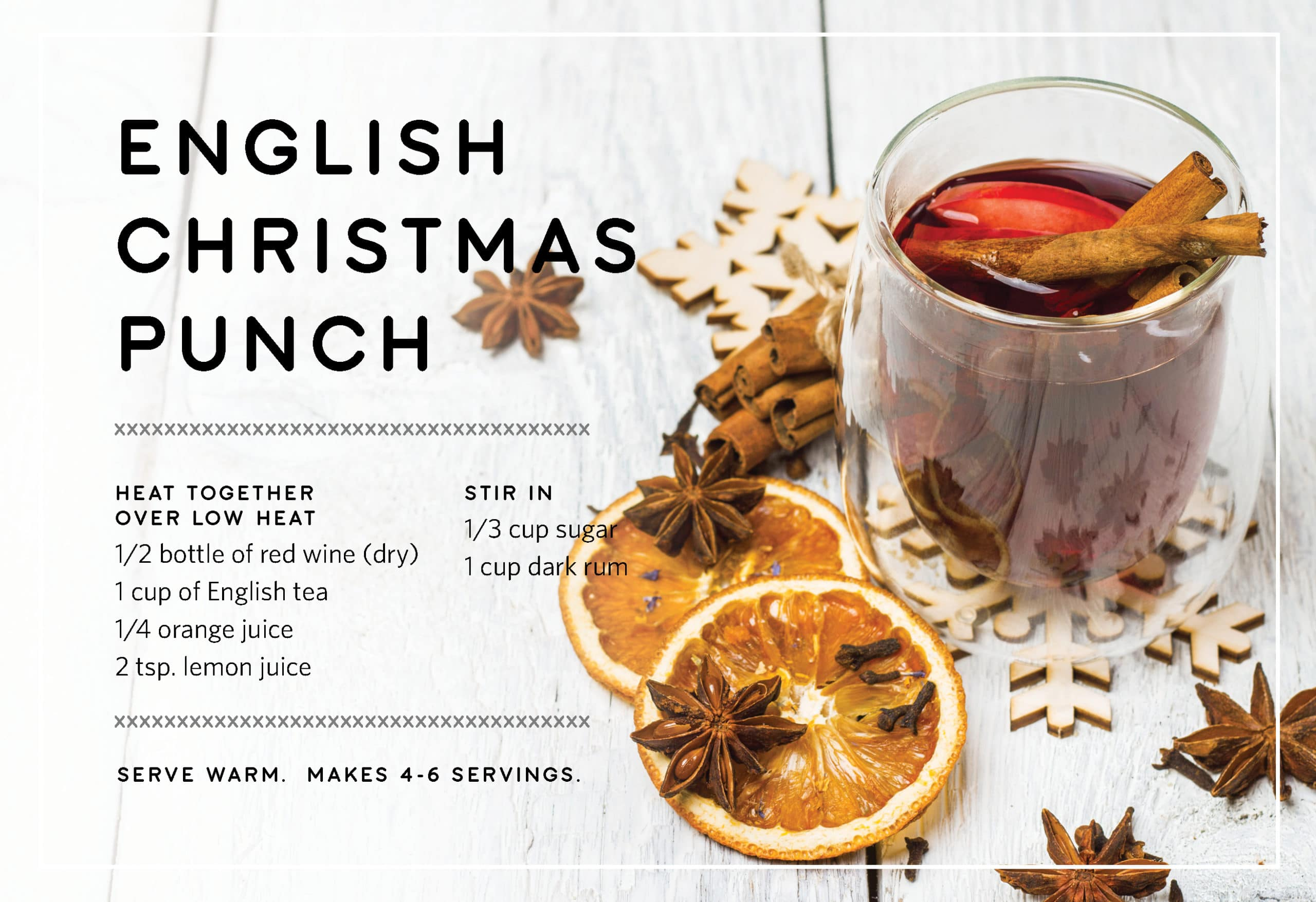English Christmas Punch Holiday Drink Recipes