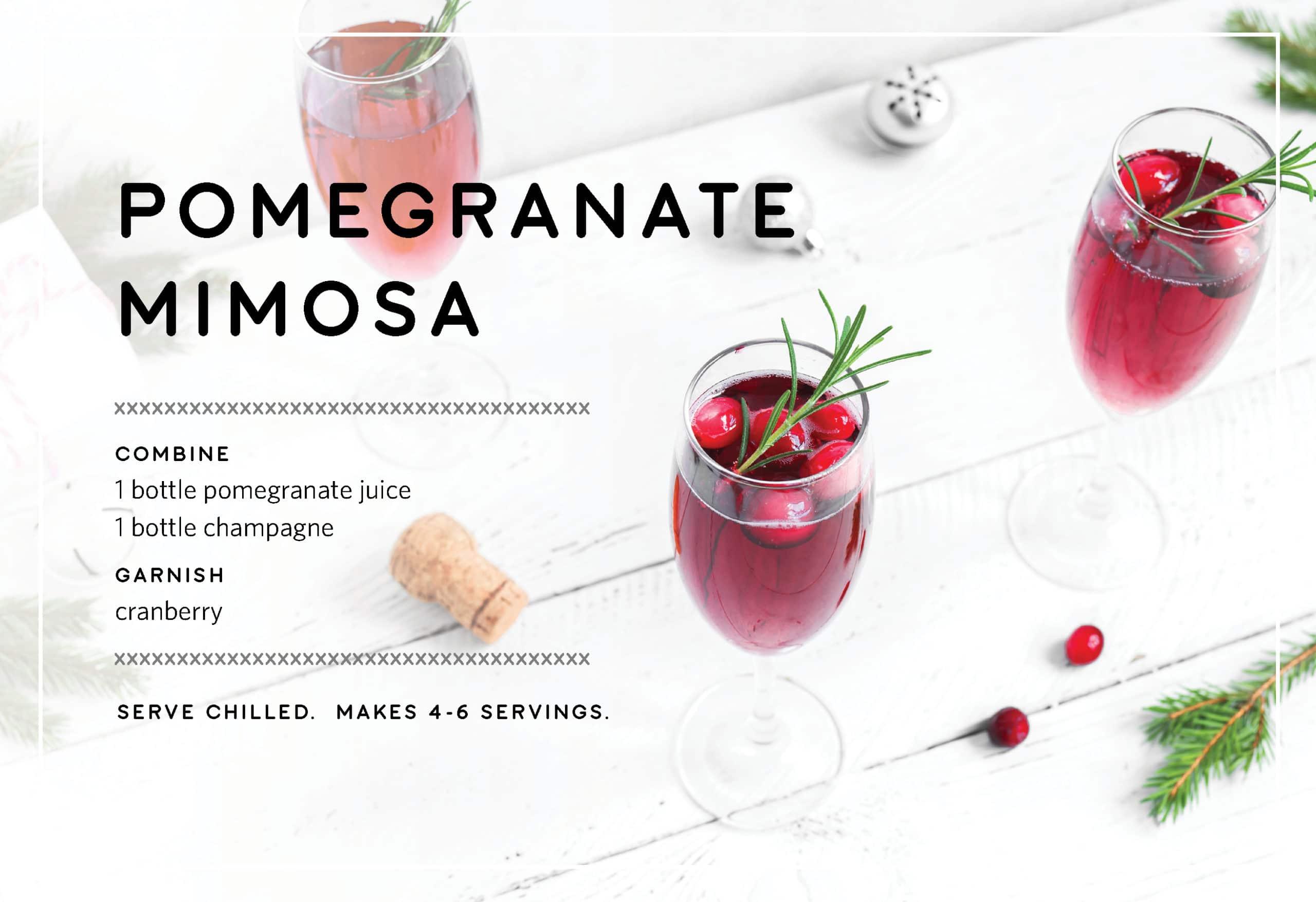 Pomegranate Mimosa Holiday Drink Recipes