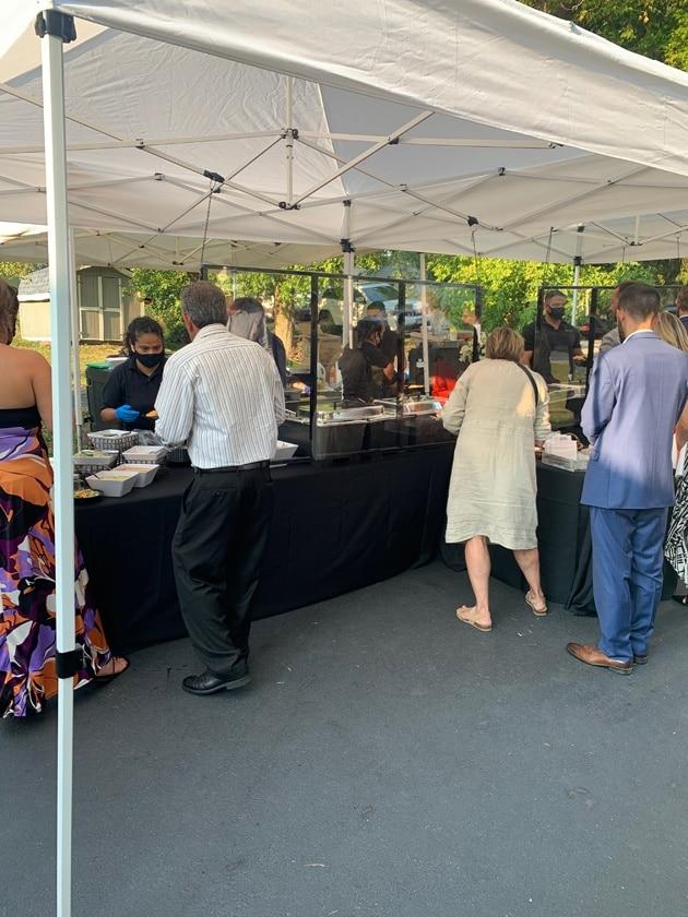 Food Station Safety Covid Wedding Backyard