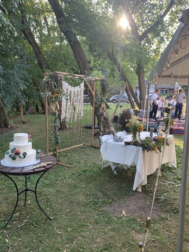 Boho Wedding Backyard Photobooth