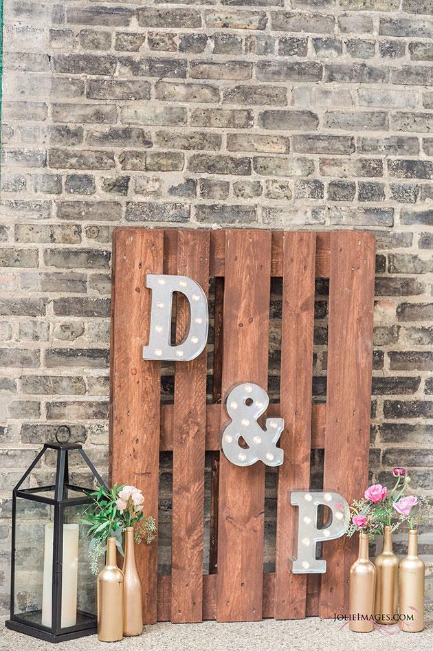 Custom Wood Signs at Outdoor Wedding