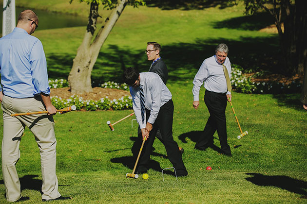 Casual Outdoor Wedding Games and Activities