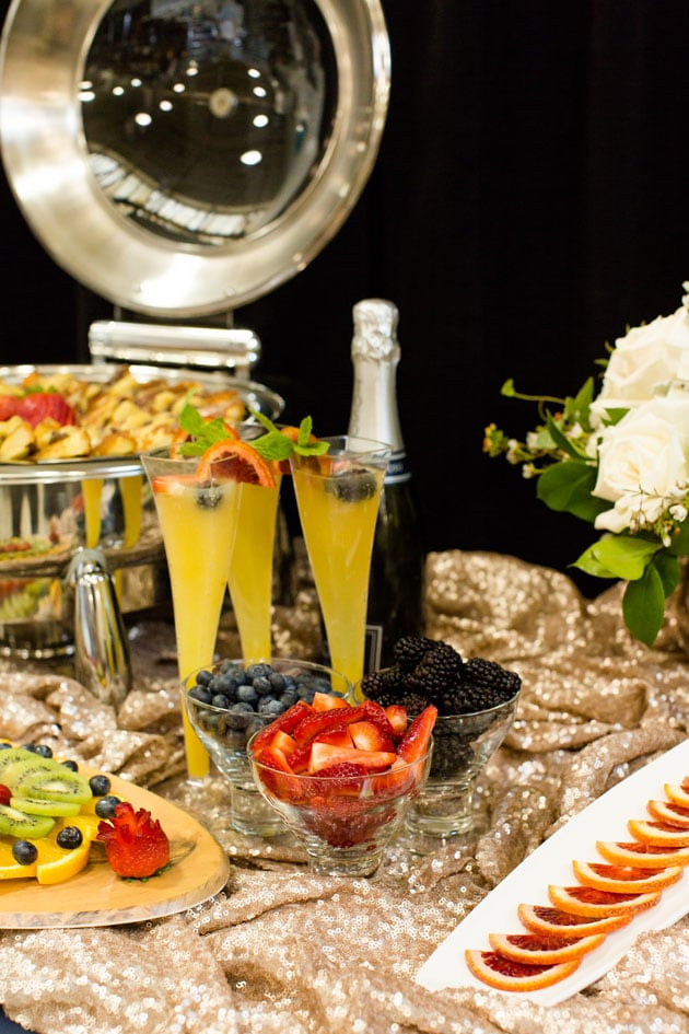 Mimosas Paired with Brunch
