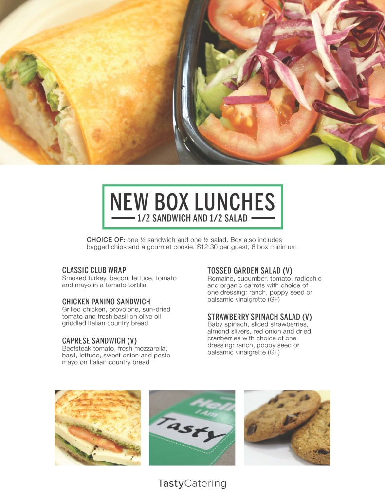 New Box Lunch Flyer