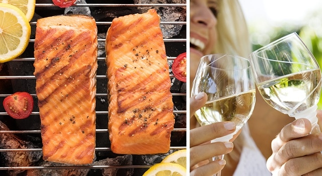 Salmon Fillet and white wine