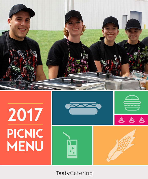 Tasty Catering Picnic Menu 2017 Chicago