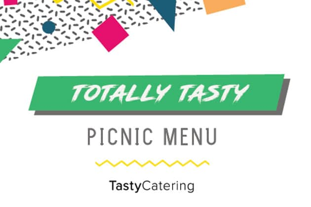 Tasty Catering's Anniversary Picnic Menu
