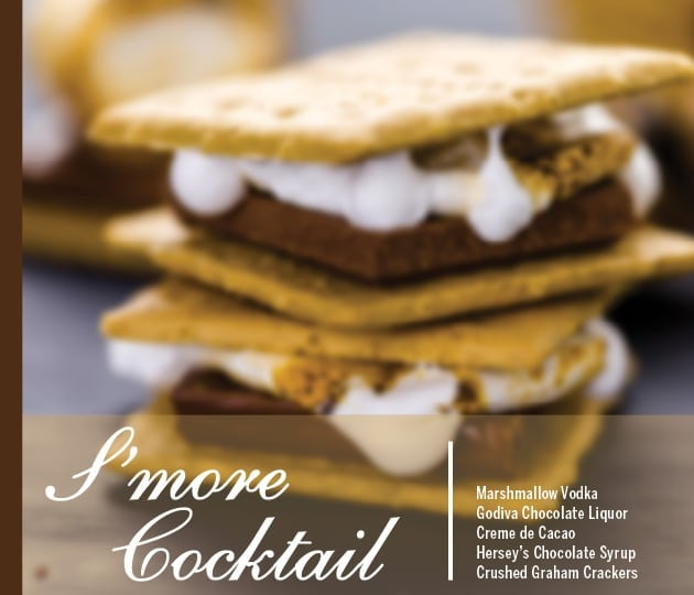 Smore Cocktail Holiday Drink Recipe