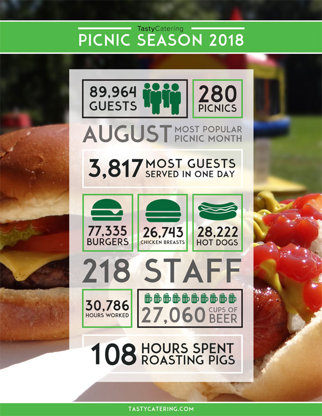 Summer Picnics 2018 Infographic